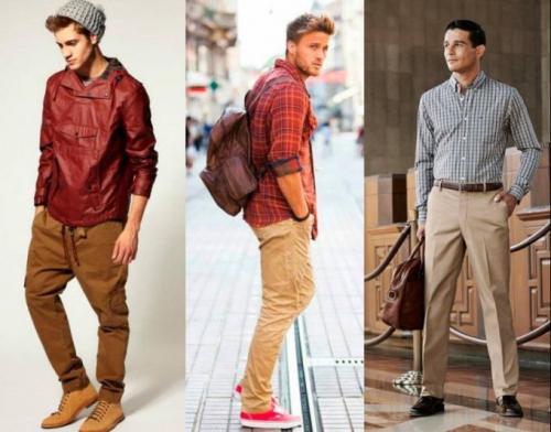 С чем носить бежевые джинсы мужчинам. Как правильно носить мужские бежевые брюки