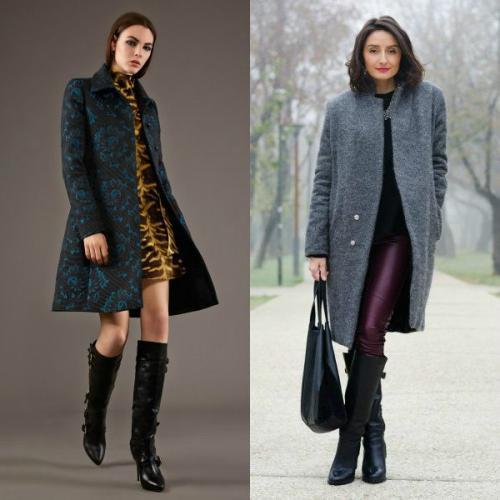Обувь с длинным пальто. Пальто до колена, выше колена и ниже колена – подбираем обувь для каждого случая