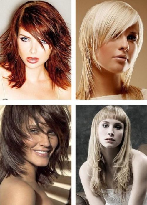 Прическа на средние густые волосы. Как постричься