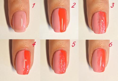Омбре ногти как сделать в домашних