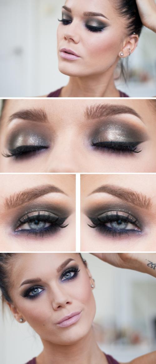 Макияж для темно серых глаз. На вечеринку, праздник или торжество Как сделать вечерний макияж для серых глаз? Давайте определим, какой макияж можно считать вечерним. Он должен быть:
