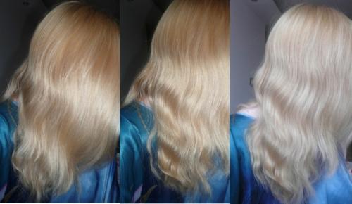 Лечение волос до и после.