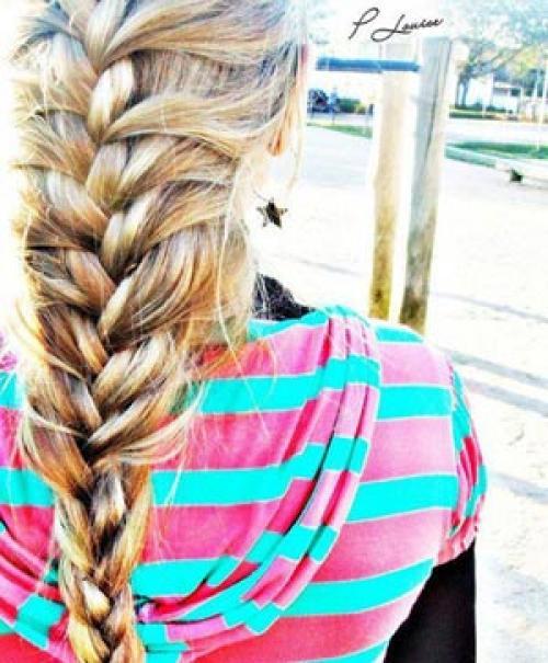 Воздушное плетение кос. Воздушная коса шаг за шагом