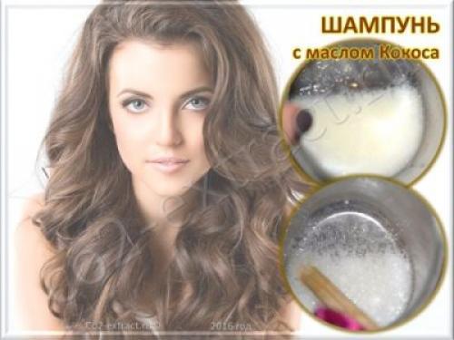 Шампунь с кокосовым маслом. Кокосовое масло для волос