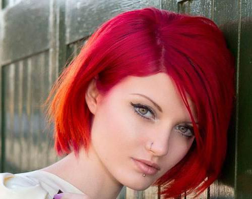 Краска ярко рыжая для волос. Палитра