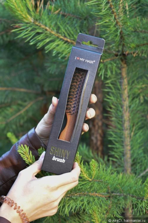 Расческа i love my hair. Shiny Brush - лучшая расческа с натуральной щетиной, оказалась нежнее Tangle Teezer