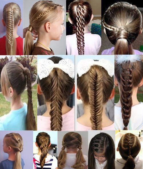 Прически с хвостом на средние волосы на девочек. Для длинных и волос средней длины