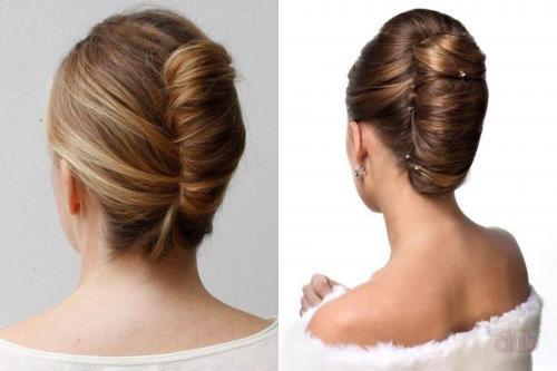 Собрать средней длины волосы. Собираем волосы средней длины
