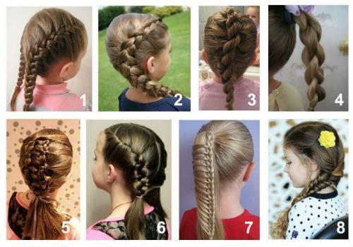 Детские прически на длинные волосы. Детские прически с косичками на длинные волосы