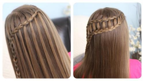 Прическа на средние волосы на прямые волосы. Стильные женские прически