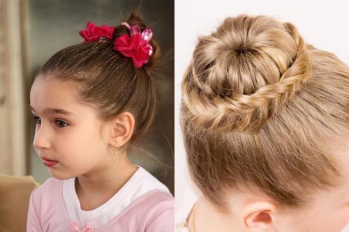 Прически для детей на короткие волосы пошагово. 5 детских причесок с пучками