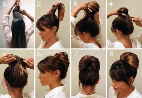 Високі зачіски на середнє волосся. Креативные укладки