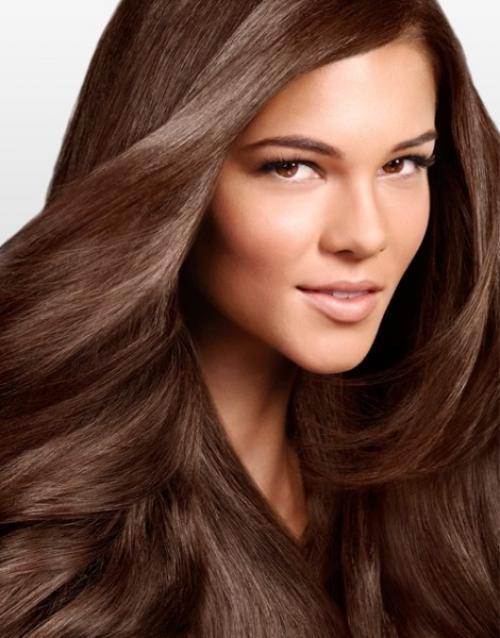 Прически для черных волос средней длины. Модные цвета
