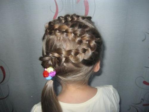 Косички на короткие волосы для детей. Причёски на волосы короткой длины