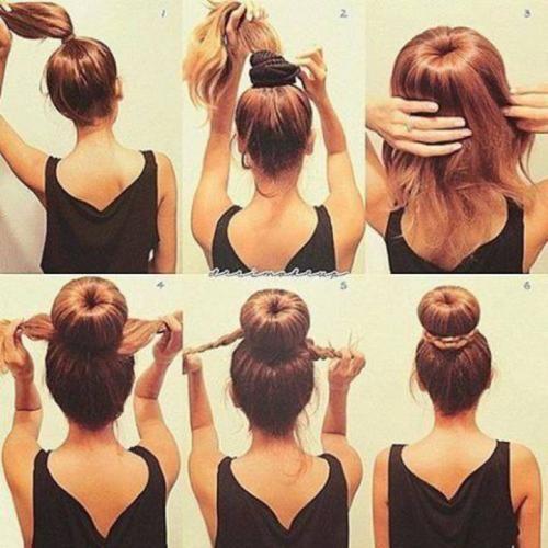 Прическа из волос средней длины. Легкие прически на каждый день