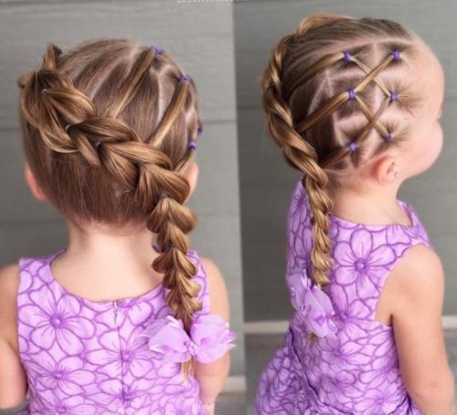 Высокие прически для девочек. Детские прически на длинные волосы для девочек 4 — 6 лет