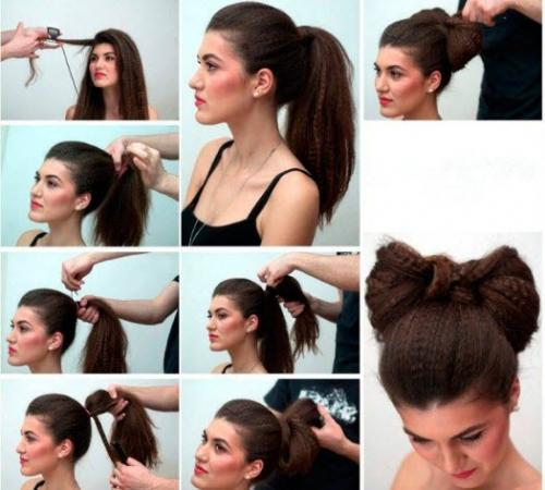Прически в школу на средние волосы для подростков поэтапно. Легкие прически в школу с пучком