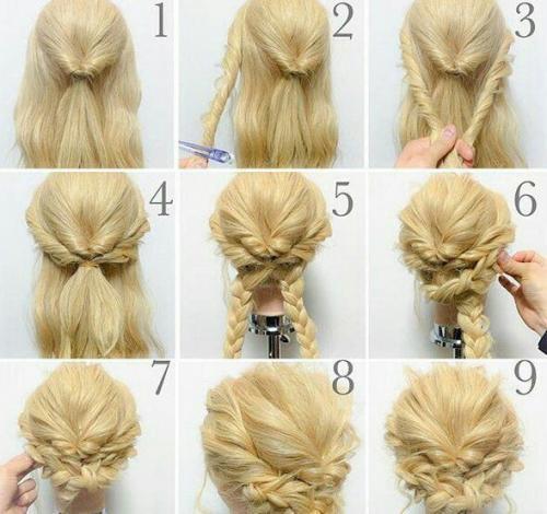 Красиві зачіски на середнє волосся. Красивые причёски для особых случаев