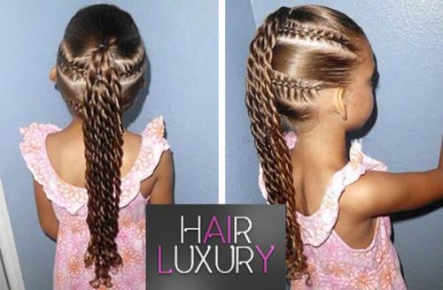 Волосы длинные у маленьких девочек. Волосы средней длины