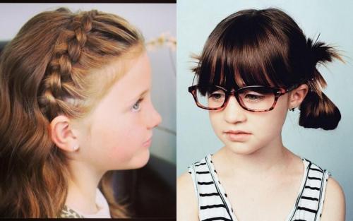 Для подростков прически на средние волосы. Прически для самых маленьких