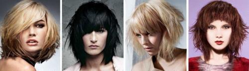 Рваное каре на средние волосы. Красивые рваные стрижки на волосы средней длины