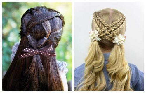 Прически для подростков на длинные волосы в домашних условиях. Прически в школу для девочек