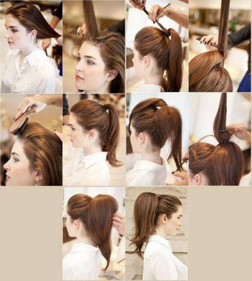 Прически растрепанные на средние волосы. Прически с хвостом на средние волосы