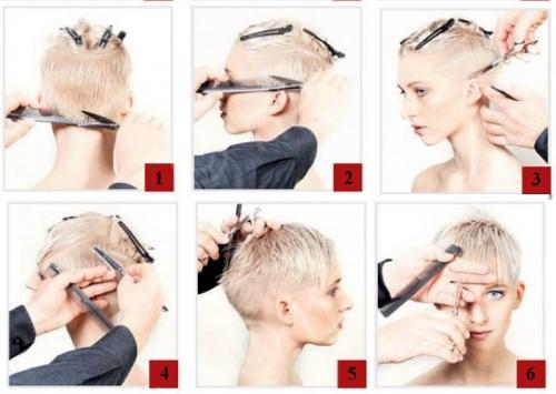Стрижки техника на короткие волосы. Схема и техника выполнения стрижки