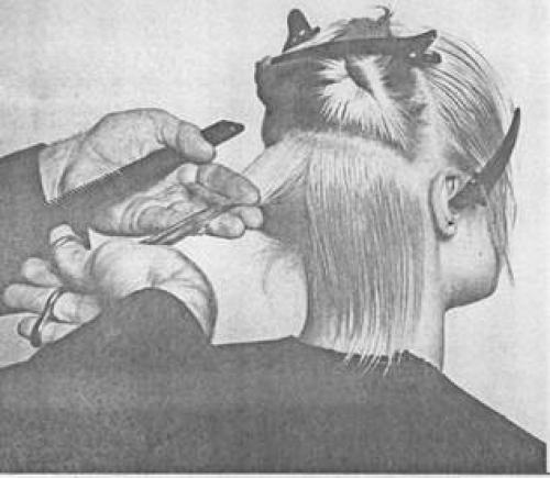 Короткая женская стрижка схема. Схема короткой молодежной женской стрижки с рваной окантовкой 12