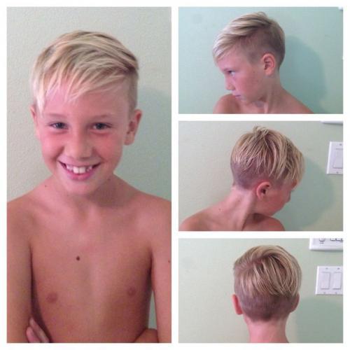 Как подстричь челку мальчику. Прически для мальчиков с челкой набок
