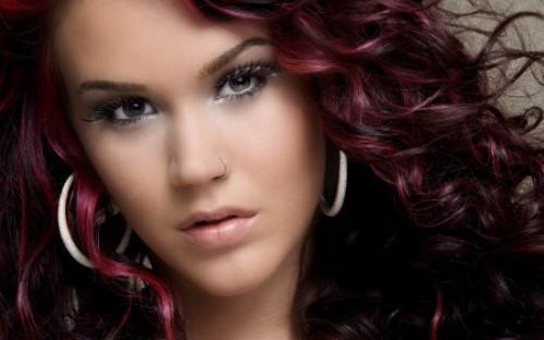 Цвет спелой вишни краска для волос. Вишневый оттенок волос