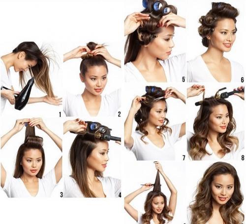 Кудри на средние волосы на бигуди. Основные принципы использования бигуди