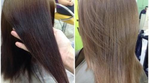 Как выйти с черного цвета волос в русый. Как из черного перекраситься в русый? Четыре простых способа 05