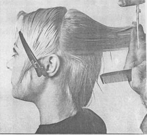 Короткая женская стрижка схема. Схема короткой молодежной женской стрижки с рваной окантовкой 13