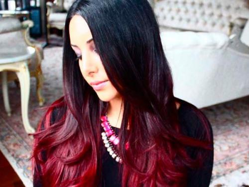 Спелой вишни цвет волос. Вишнёвое Bombre: новый тренд в окрашивании волос