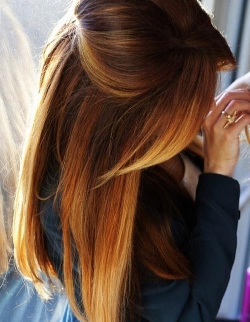 Покраска волос в два цвета черный и рыжий. Идеи окрашивания волос для брюнеток