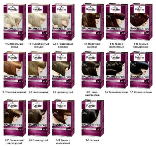 Палет краска для волос инструкция по применению. Линии красок Palette: Salon Colors и «Краска–Мусс»