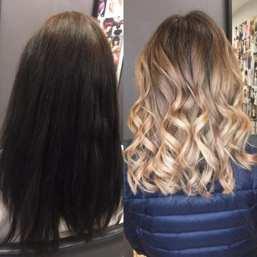 Техника wet выход из черного. Выйти из черного цвета в блонд без рыжины и желтизны? Част.