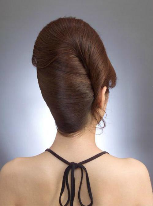 Ракушка укладка. Прическа ракушка на средние и длинные волосы