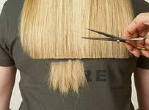 Как подстричь волосы одним срезом. Сделайте у нас стрижку в один срез