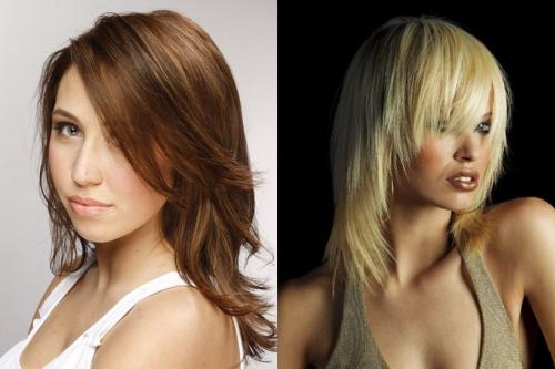 Градуированная стрижка на длинные и средние волосы