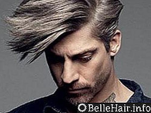 Мелирование мужских волос в белый цвет. Плюсы и минусы