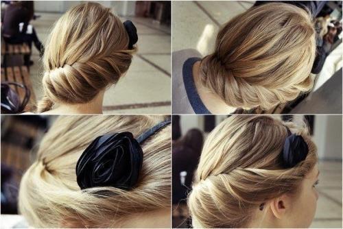Собранные волосы укладка. Собранные прически на средние волосы
