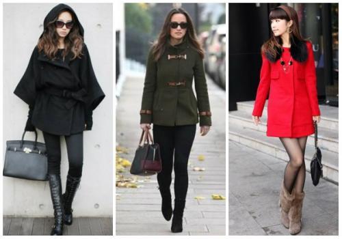 С какой обувью носить пальто черное. С какой обувью носить женское пальто до колена?