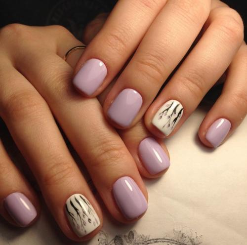 Рисунки на коротких ногтях. Особенности маникюра на короткие ногти