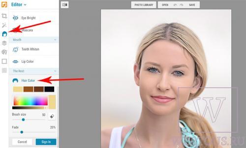 Цвет волос онлайн программа. 3 онлайн сервиса изменения и подбора цвета волос по фото