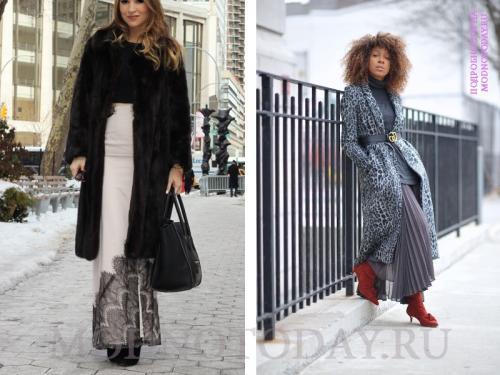Пальто длинные с чем носить. Образы по сезону