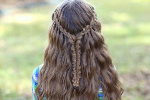 Стрижка на длинные волосы водопад. Прическа водопад — схемы плетения, особенности оформления и ухода + фото
