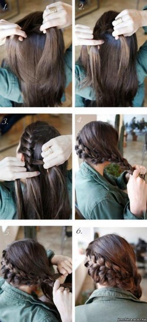 красивые прически на темные волосы быстро видео