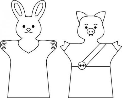Выкройки кукол перчаток для кукольного театра своими